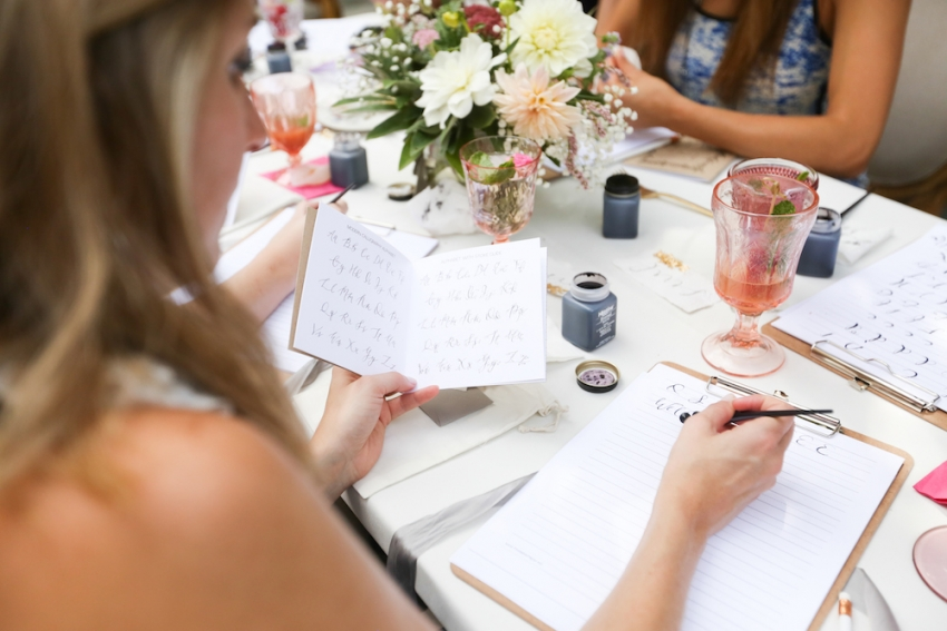 Calligraphy Party with Fashionable Hostess and Parris Chic Nashville 41
