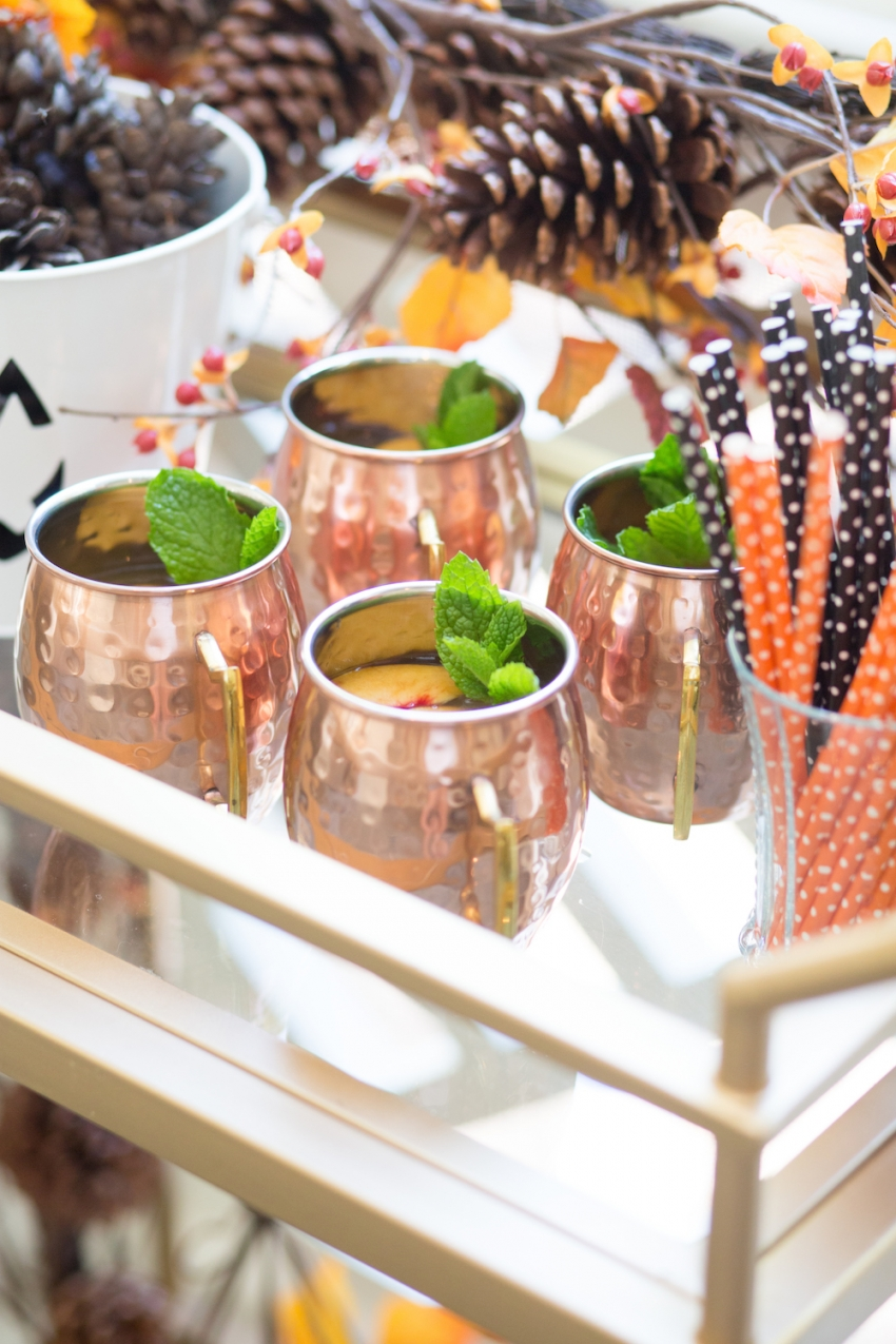 Decorating for Halloween - styling your bar cart by Fashionable Hostess 3