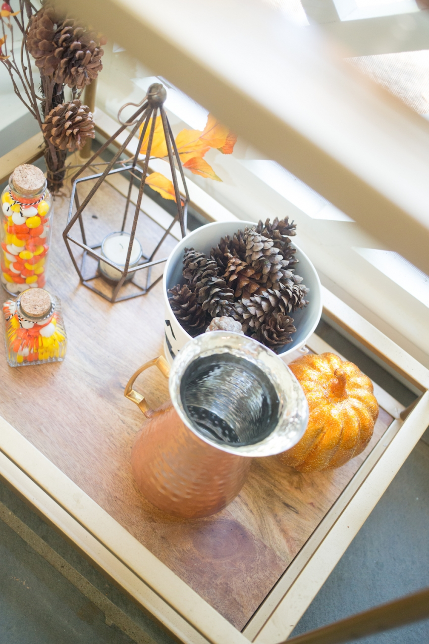 Decorating for Halloween - styling your bar cart by Fashionable Hostess 6