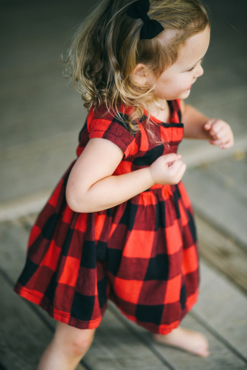 Little red plaid dress by Old Navy on Fashionable Hostess7