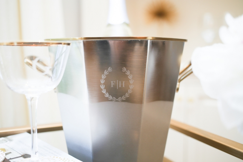 Monogrammed Wine bucket by Mark & Graham