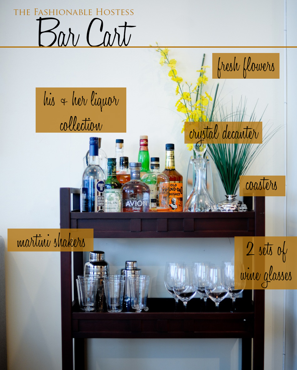 Everything you need for a Perfectly Styled Bar Cart ...