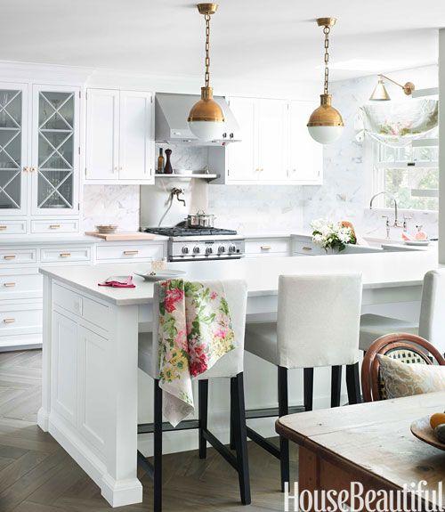 White Kitchen Inspiration Fashionable Hostess