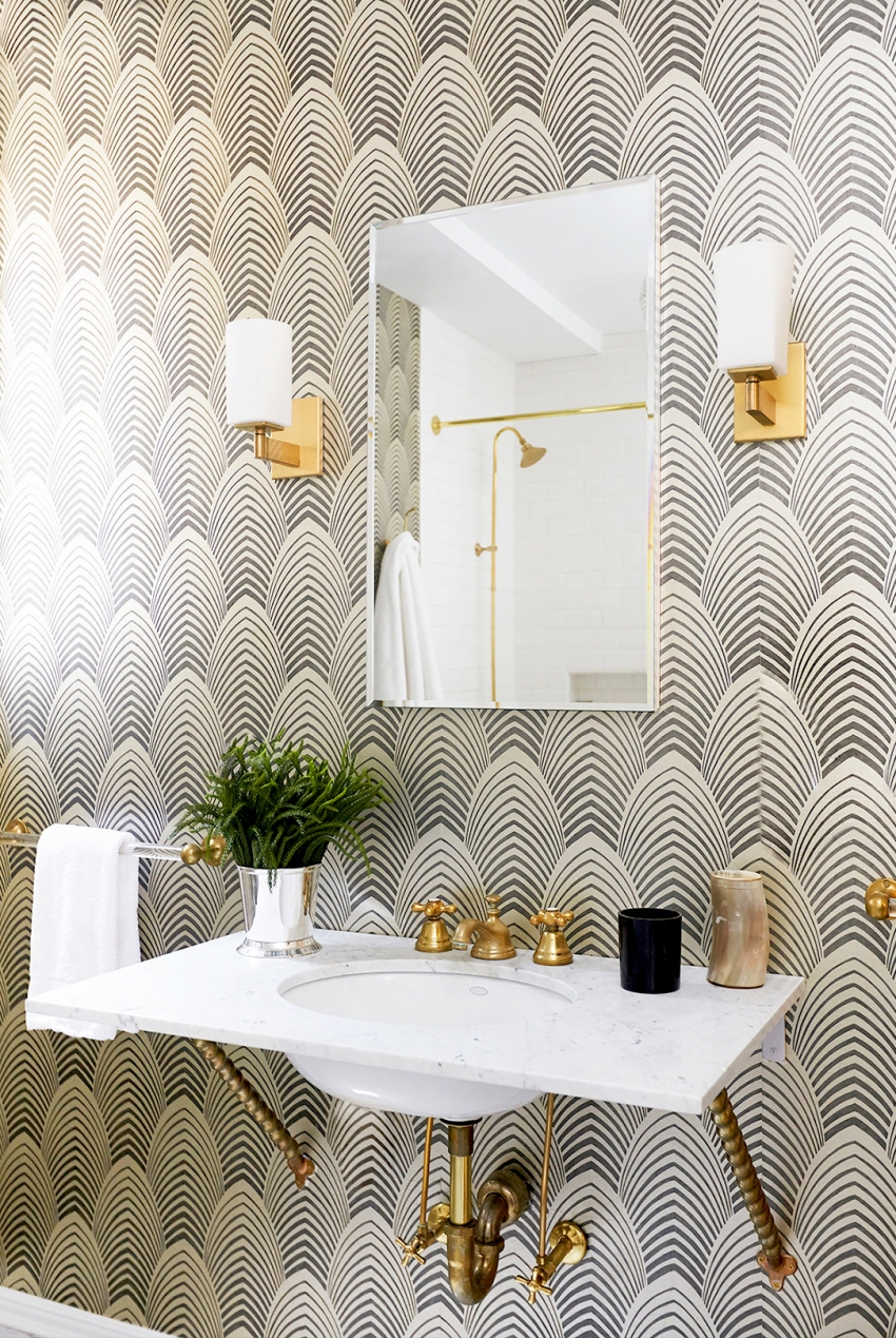 Powder Room Wallpaper Inspiration Fashionable Hostess