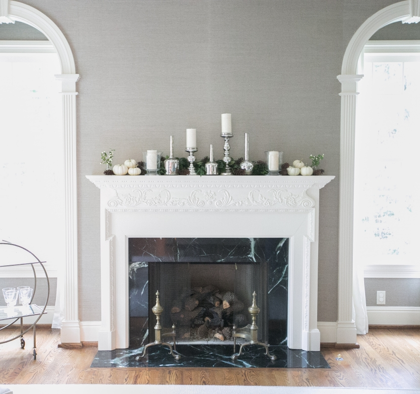 Decorate Your Fireplace Mantel For Fall Fashionable Hostess